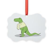 T-Rex Hates Sweaters Ornament