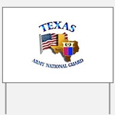 Army National Guard - TEXAS w Flag Yard Sign
