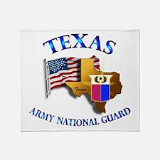 Army National Guard - TEXAS w Flag Throw Blanket