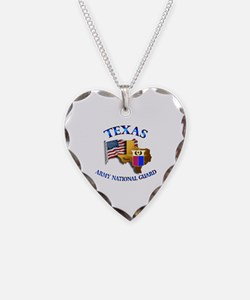Army National Guard - TEXAS w Flag Necklace