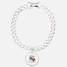 Army National Guard - TEXAS w Flag Charm Bracelet,
