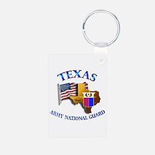 Army National Guard - TEXAS w Flag Keychains