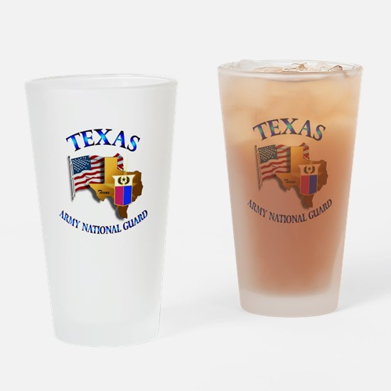Army National Guard - TEXAS w Flag Drinking Glass