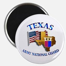 """Army National Guard - TEXAS w Flag 2.25"""" Magnet (1"""