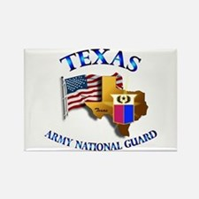 Army National Guard - TEXAS w Flag Rectangle Magne