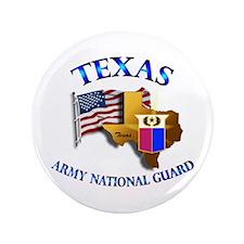 "Army National Guard - TEXAS w Flag 3.5"" Button (10"