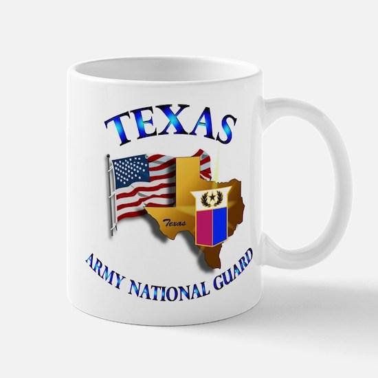 Army National Guard - TEXAS w Flag Mug