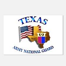 Army National Guard - TEXAS w Flag Postcards (Pack