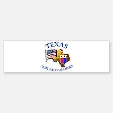 Army National Guard - TEXAS w Flag Bumper Bumper Sticker