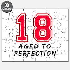 18 year birthday designs Puzzle