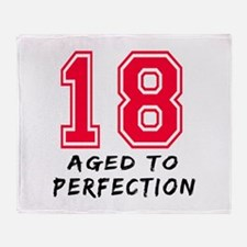 18 year birthday designs Throw Blanket