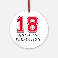 18 year birthday designs Ornament (Round)
