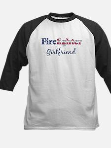 Firefighter Girlfriend Kids Baseball Jersey