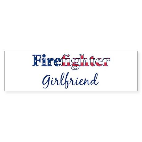 Firefighter Girlfriend Bumper Sticker