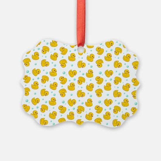Rubber Duck Pattern Ornament