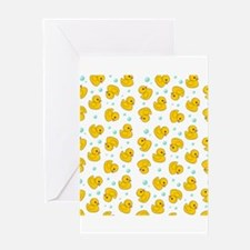 Rubber Duck Pattern Greeting Card