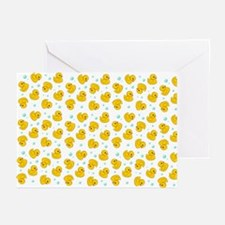 Rubber Duck Pattern Greeting Cards (Pk of 10)