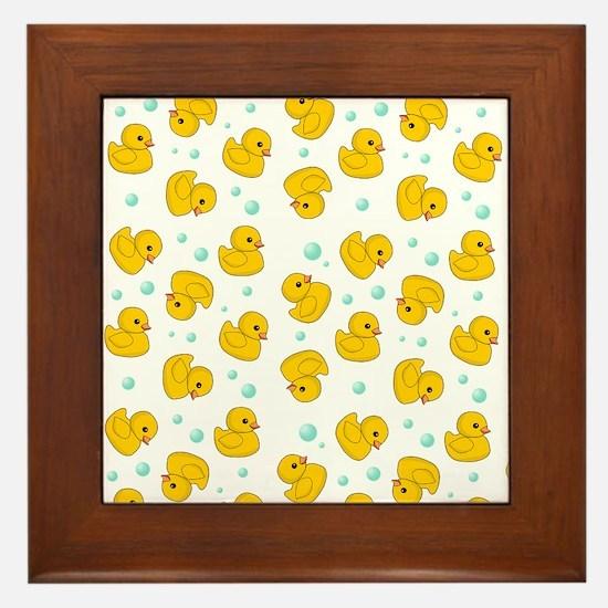 Rubber Duck Pattern Framed Tile