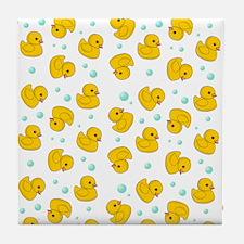 Rubber Duck Pattern Tile Coaster