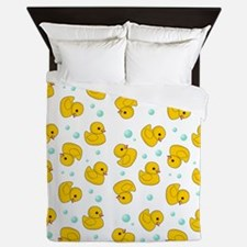 Rubber Duck Pattern Queen Duvet