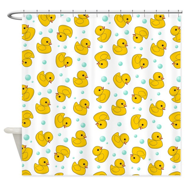 Rubber Duck Pattern Shower Curtain by InspirationzStore