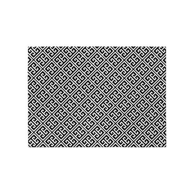 Greek Key Pattern 5x7Area Rug By Mcornwallshop