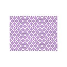 Lavender Quatrefoil 5'x7'Area Rug