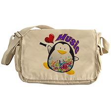Music Penguin Messenger Bag