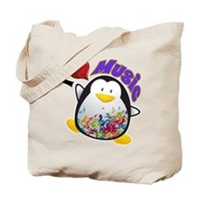 Music Penguin Tote Bag