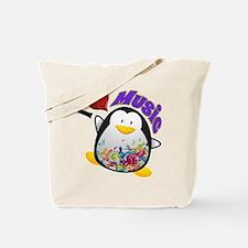 Music Penguin Tote Bag