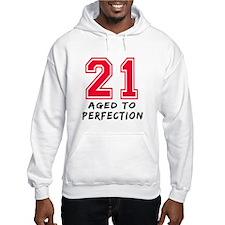 21 year birthday designs Hoodie