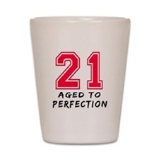 21 year birthday designs Shot Glass