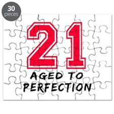 21 year birthday designs Puzzle