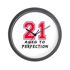 21 year birthday designs Wall Clock