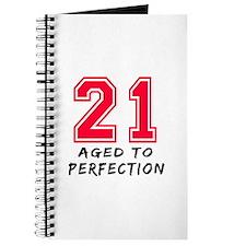 21 year birthday designs Journal