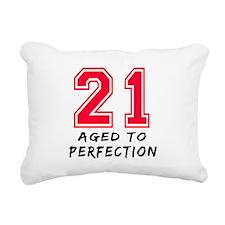 21 year birthday designs Rectangular Canvas Pillow
