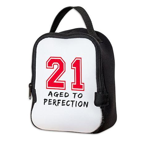 21 year birthday designs Neoprene Lunch Bag