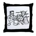 Funny Monsters Throw Pillow