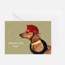 Dachshund Fireman Birthday Card by Focus for a Cau