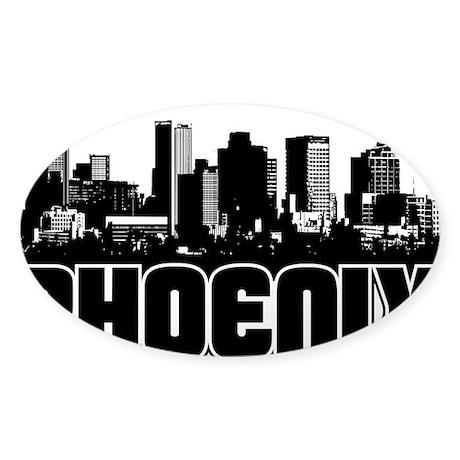 Phoenix Skyline Sticker (Oval)