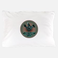 Mimbres Teal Quail Pillow Case