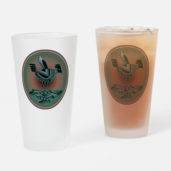 Mimbres Teal Quail Drinking Glass