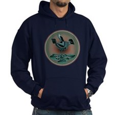 Mimbres Teal Quail Hoodie