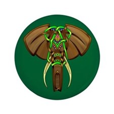 "Indian Elephant 3.5"" Button (100 pack)"