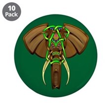 """Indian Elephant 3.5"""" Button (10 pack)"""