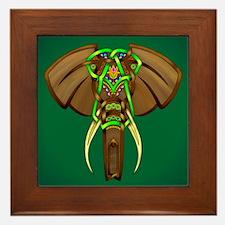 Indian Elephant Framed Tile
