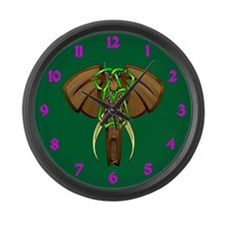 Indian Elephant Large Wall Clock