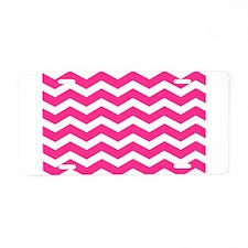 Hot pink chevron Aluminum License Plate