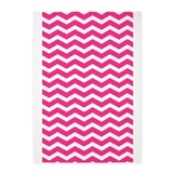 Hot pink and white chevron 5x7 Rugs
