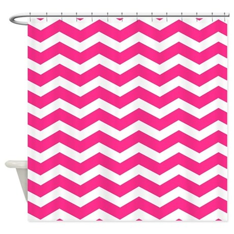 Hot Pink Chevron Shower Curtain By Inspirationzstore